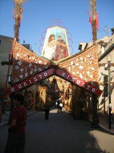 Archi di pane San Biagio Platani - W Cristo risorto