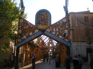 San Biagio Platani - Arco di Pasqua dei Madunnara - Viva Maria santissima