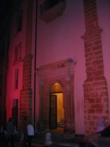 Collegio dei Filippini di Agrigento illuminato di rosa - Foto di Calogero Mira - www.calogeromira.wordpress.com